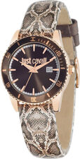 Just Cavalli Just in Time R7251202501 Leather Date Steel Watch