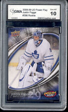 2008 Justin Pogge UD Power Play rookie Gem Mint 10 #396