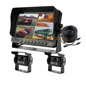 """4CH 7"""" DVR Monitor Recorder Car Backup Rear View Camera System for RV Trailer"""