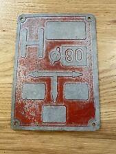 "Vintage Polish Equipment Gear Plate Metal 7.5""x5.5"" Embossed Sign"