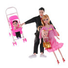 Toys Family 5 People Dolls Suits 1 Baby Carriage Real Pregnant Doll Gifts LJ