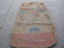 Vintage Used Master Mix Hog Feed burlap empty sack