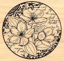 Flower Poetry, Wood Mounted Rubber Stamp PENNY BLACK - NEW, 4311K