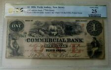 1 dollar 1856 Commercial Bank Of New Jersey Perth Amboy - COWBOY and HORSES