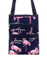 Canvas Small Hipster Crossbody Bag NGIL NEW FREE SHIPPING! Flamingo FNA231_NY