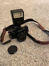 canon ae-1 camera Black