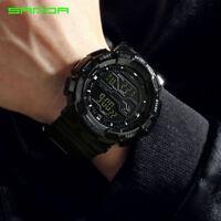 Sanda Men's Analog Quartz Digital Watch Waterproof Sports Military Watches Shock
