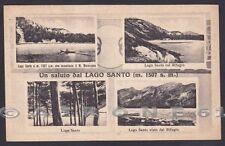 PARMA LAGO SANTO 01 SALUTI da... VEDUTINE - RIFUGIO Cartolina 1943