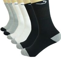 Check 3 Pairs For Mens Sports Athletic Work Crew Cotton Socks Casual Size 10-13