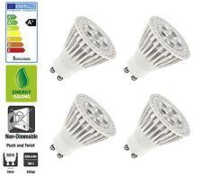 4 Pack: Allcam 5W GU10 LED Bulbs Energy Saving 50mm Height, Warm White