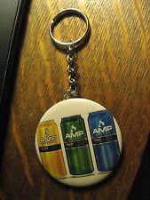 AMP Energy Drink Caffeine Advertisement Keychain Backpack Purse Clip Ornament