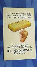 Vintage Bamforth Comic Postcard 1920s RADIO Wireless Soap Ear Theme
