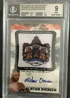 MINT 2012 Topps UFC Bloodlines Patriotic Patch Autograph ALISTAIR OVEREEM/99