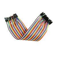DuPont Hook up Cable wire Rainbow Ribbon of 40 Wires Male to Female 40Pcs