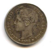 Espagne Alfonso XIII 1 Peseta 1902 KM 706