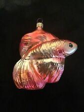 Polonaise Blown Glass Fish Ornament Beta Fish Rare