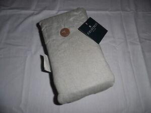 Fieldcrest One Piece Bedskirt 84 in L x 72 in. W Linen Blend Solid Gray NWT
