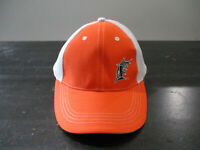 Florida Marlins Hat Cap Strap Back Orange White MLB Baseball Adjustable Mens