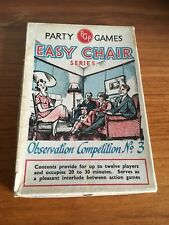 Easy Chair Party Games - Boxed Vintage