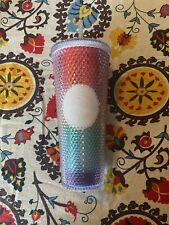 New Starbucks 2020 Rainbow Pride Studded Bling 24 Ounce Tumbler Cup Glass