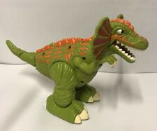 Surge Frilled Raptor Walking Roaring Dinosaur 2006 Imaginext Adventures Dino Toy