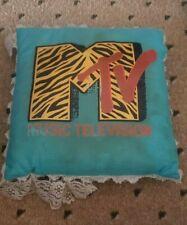 MTV Pillow (Blue) 1980s.