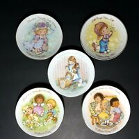 """Vintage Avon Plates Mothers Day Collector Saucers 1980s 5"""" Wide Lot Of 5 EUC"""