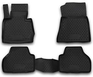 Gummimatten für BMW X3 F25 2010-17 Gummi Fußmatten 4 teilig 3D Schalen Qualität