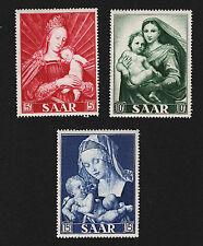 OPC 1954 Germany SAAR Madonna Margin Set Sc#250-2 Mi#351-3 MNH 26849