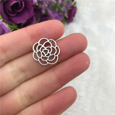 10x Flower Connectors Charm Tibetan Silver Bead Finding Jewellery Making 15x15mm