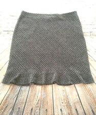 GAP Factory Store Gray Tweed Skirt Flare Hem Side Zip Knee Length Women's Sz 18