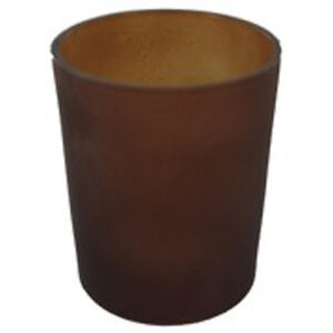 50 Brown Frosted Glass Cup Tealight Table Candle Holder Event Garden BBQ Party