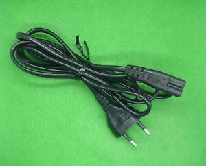 Stromkabel Euro Netzkabel Eurostecker Gerätebuchse C7 schwarz