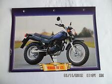 CARTE FICHE MOTO YAMAHA TW 125   2002