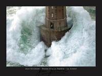 LIGHTHOUSE ART PRINT Phares dans la Tempete La Jument Jean Guichard Poster 32x24