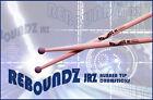 REBOUNDZ JRZ - RUBBER TIP PRACTICE DRUMSTICKS / IDEAL ROCK BAND DRUM STICKS