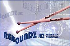 REBOUNDZ JRZ - RUBBER TIP PRACTICE DRUMSTICKS / IDEAL ROCKBAND DRUM STICKS