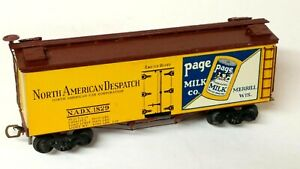 "HO Scale Vintage NADX ""Page Milk"" Merrill WI Old-Time Truss Rod Billboard Reefer"