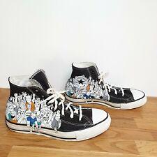 Converse Chuck Taylor All Star Hi Tops Zapatillas Sneakers de impresión de 6 negro con dibujos animados