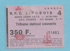 TICKET   RFC LIEGE - AT BILBAO 23/10/1985 C3