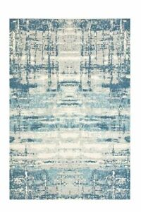 Abstract Blue By Plantation Rug 120cm x 170cm Living Room Rug Bedroom Non-Slip