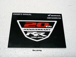 original HONDA CBR 1000 RR , SC59 , Fireblade , Fahrerhandbuch , OWNER`S MANUAL