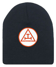 Royal Arch Masonic Beanie Cap. Black Winter Hat Triple Tau Royal Arch Freemasons
