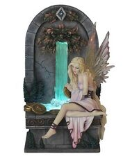 """9"""" FAIRY WISHING WELL By Selina Fenech (LED Fountain) Statue Fantasy Sculpture"""