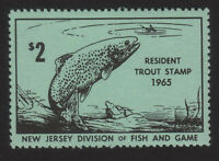 1965, US 2$ Resident Trout Stamp, MNH, New Jersey