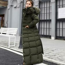 Winter Womens Jacket Long Hooded Warm Cotton-padded Long Sleeve Parkas Down Coat