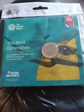 2018 RAF CENTENARY LIGHTNING £2 POUND COIN BU ROYAL MINT SEALED PACK.