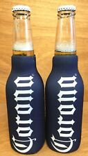 Corona Extra Cerveza Zip Up Bottle Koozie Coozie Vertical Font - Two (2) New F/S