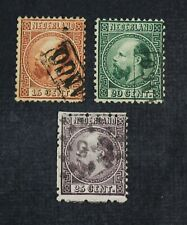 CKStamps: Netherlands Stamps Collection Scott#9 10 11 Used