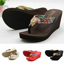 Fashion Women Summer Bohemia Beach Sandals Thongs Slippers Flip Flops Shoes